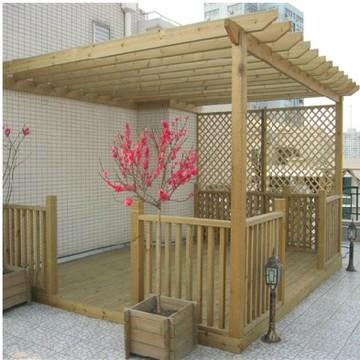 家庭装修选择防腐木花架的优势和合理运用介绍