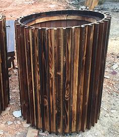 防腐木花箱生产