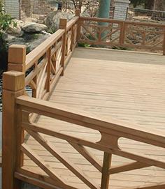 防腐木栏杆类型