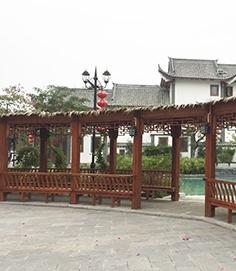 南宁防腐木花架设计