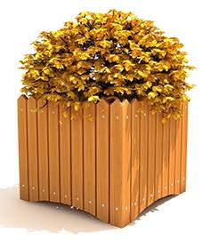 防腐木花箱设计