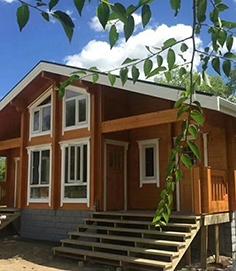 防腐木木屋结构