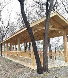 防腐木长廊制作